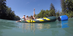 Aarebtle (evil king) Tags: aare bern water wasser relax outside party summer sommer beer berne bikini sun sunny sunglasses wet green switzerland splash