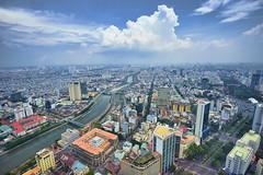 Saigon Cityscape (tj.blackwell) Tags: vietnam saigon hochiminhcity skyline cityscape urban fromabove skyscraper fareast high sky summer travel tourism world sony a7 a7ii 2016 wow modern life buildings architecture