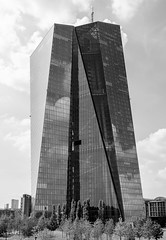 May the force be with you (perceptions (off)) Tags: series frankfurt ecb architecture reflections bw