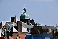 Cromer (Steve.T.) Tags: cromer norfolk architecture seaside seasidetown buildings roof roofs rooves cityscape town skyline bluesky summer dome slate rooftiles nikon d7200 sigma18200 green blue urban chimney rooftop rooftops