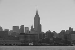 A black-and-white look at the New York skyline. (apardavila) Tags: blackandwhite chryslerbuilding hoboken manhattan newyorkcity nyc nycskyline skyline skyscraper