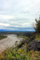 .Copper River: Looking Downstream to the South (neukomment) Tags: canont5i alaska river wrangellmountains august copperriver bluffs copperriverbluffs
