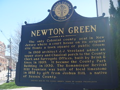 Historical Marker, Newton Green, April 17,2016 (rustyrust1996) Tags: sussexcounty newton newjersey courthouse historicalmarker newtongreen