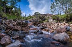 In the middle of Glenlochsie Burn (Damon Finlay) Tags: nikon d750 nikond750 tamron 2470 f28 tamron2470f28 spittal glenshee spittalofglenshee perth kinross perthandkinross glenlochsie lodge glenlochsielodge burn glenlochsieburn dalmunzie estate dalmunzieestate panorama landscape scotland highlands islands highlandsandislands scottish scottishhighlands waterfall rocks water movement watermovement
