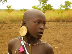 Mursi Woman (Ethiopia) (davidevarenni) Tags: mursi tribe trib etiopia ethiopia