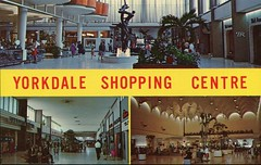 Yorkdale Shopping Centre, Toronto, Ontario (SwellMap) Tags: postcard vintage retro pc chrome 50s 60s sixties fifties roadside midcentury populuxe atomicage nostalgia americana advertising coldwar suburbia consumer babyboomer kitsch spaceage design style googie architecture shop shopping mall plaza