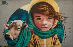 Yash mural (fredrik.gattan) Tags: yash graffiti streetart art mural wall girl cow artwork painting snstra snstragrnd rgsved stockholm sweden cute yashis concrete urban