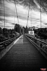 A Walk To The Park (MBates Foto) Tags: blackandwhite monochrome parksandrecreation parks outdoors spokane spokaneriver riverfrontpark washington nikon nikond810 bridge unitedstates 99201