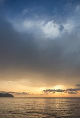 Cala Bona at Dawn (II AsH II) Tags: calabona majorca mallorca dawn goldenhour seaside ashleytownsend nikond7100 1870mm gorillapod mediterranean mediterraneansea morning sky sea landscape blue clouds balearics balearicislands 1870