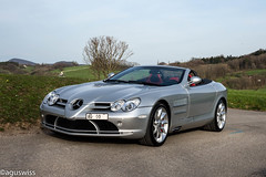 Mercedes SLR McLaren Roadster (aguswiss1) Tags: mercedesslrmclaren mercedes slr mclaren silberpfeil supercar hypercar sportscar roadster cabrio fastcar limited millionaire silver switzerland