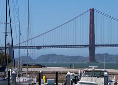 Enter the gate (Michael Dunn~!) Tags: boat bridge goldengatebridge marinadistrict photowalking photowalking20130414 sailboat sanfrancisco suspensionbridge water