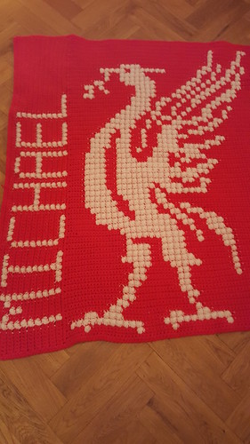Liverpool Liverbird blanket for Michael