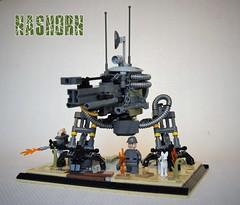 Nashorn (adde51) Tags: adde51 lego moc walker robot mak mecha maktober nashorn military gun wwi