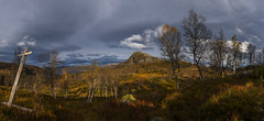 A walk into the autumn... (bent inge) Tags: norway rogaland ryfylke gullingen suldal gullingentoppen fjellhug stf hedlebrekk bentingeask oktober 2016 mountain norwegianmountain autumn sign nikond810 panorama