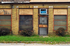 Indy#14993_Copy (Single-Tooth Productions) Tags: storefront decayingstorefront decay decaying neglect bleak forgotten abandoned abandonedbuilding architecture architecturaldecay architecturalcomposition composition shapes lines colorblocks 2d flat facade facadedetail brick brickstorefront windows door doorway entry entryway buildingstreetview e46thst indianapolis indiana urban city building buildingdetail buildingcomposition buildingdecay urbandecay 50mm nikkor nikkor50mm nikond200 nikon
