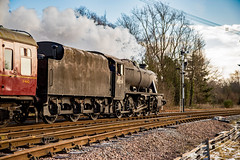 Dirty Eight (Peter Leigh50) Tags: gcr great central railway winter gala 2015 8f 48624 dirty steam swithland sidings leicestershire