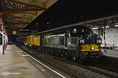 37057 (Teignstu) Tags: teignmouth devon railway station night colas class37 37057 testtrain green