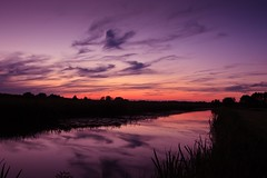 The colours of the sky (M a u r i c e) Tags: sunlight sunset dusk evening summer efs1022mm wideangle ultrawidezoom maarssen netherlands water sky reflections silhouettes polder canal nature