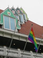 Zaandam GAY. Stadhuis (Arthur-A) Tags: zaandam zaanstad townhall cityhall gemeente huis mairie rathaus gay homo lesbian transgender bisexual vlag flag gayvlag