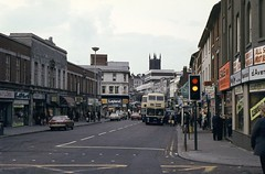 WMPTE 112L, Victoria Street, Wolverhampton, 1979 (Lady Wulfrun) Tags: wmpte 112l victoriastreet wolverhampton may 1979 walsall fleetline bus buses pte bristolvr 1970s