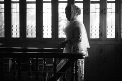 She leaves again.... (N A Y E E M) Tags: shezin wife staircase 1stfloor home rabiarahmanlane chittagong bangladesh availablelight indoors