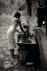 Country wash (mike catalonian) Tags: portrait fulllength female photography bw