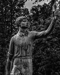 Selfie- (Martyn.A.Smith) Tags: statue blackwhite daytime foliage fujifilm monochrome outdoors shapes stilllife urban warwickshire xti coventry englanduk