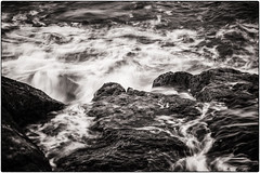 Sea Motion (Chenxi Ni) Tags: water outdoor lanscape motion seascape seamotion sea seaside seaview coast mono bw rock stone isleofportland portlandbill blackandwhite nikon d800 70200mm f4 nikon70200mmf4g