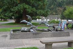 Columbia River Gorge - Bonneville Dam - Fish Hatchery (jrozwado) Tags: northamerica usa oregon columbiarivergorge fountain sculpture fish bonneville dam hatchery nationalscenicarea nationalhistoricdistrict