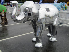 Steel Elephant by Tom Clayton, Herd of Sheffield Farewell Weekend 2016 (Dave_Johnson) Tags: steelelephant tomclayton steel stainlesssteel sheffieldsteel herdofsheffield herd elephant elephants art streetart sculpture sheffchildrens sheffieldchildrenshospitalcharity sheffieldchildrenshospital childrenshospitalcharity childrenshospital sheffield southyorkshire meadowhall carpark shoppingcentre