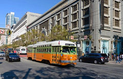 Flying the flag (railfan3) Tags: sanfrancisco muni municipal public transport transportation transit pcc 1080 tributelivery former fruitsaladlivery color nationalcitylines streetcars linef marketstreet trams trolleys tram tramcars tramway triebwagen tramways historical california usa urban strassenbahnwagen strasenbahn streetscene streetcar old vintage oldtimers electric urbos mobility classic presidentsconferencecommittee