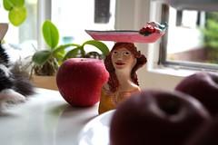 Teelichtbstenhalter (krewerkerstin) Tags: teelichtbstenhalter tee kerzen kerzenhalter clay modellieren gesicht bste malen malerei kunst handgefertigt handmade
