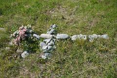 P1270890 (Jusotil_1943) Tags: cruz piedras flores ramo