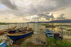 Before rain (<Pirate>) Tags: timah tasoh lake fisherman windy sunset freshwatr fish 1018 is stm ray mastrs gnd 6hard human boat beseri perlis malaysia october 2nd 2016