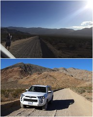 Pull over and take a photo of Racetrack Road (daveynin) Tags: nps desert california unpaved road car 4x4