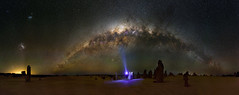 Milky Way over The Pinnacles Desert, Western Australia (inefekt69) Tags: thepinnaclesdesert pinnacles desert nambung nambungnationalpark panorama stitched mosaic ptgui milky way cosmology southernhemisphere cosmos southern westernaustralia australia dslr long exposure rural night photography nikon stars astronomy space galaxy astrophotography outdoor milkyway core great rift ancient sky 35mm d5100 magellanicclouds large small magellanic cloud airglow landscapeastrophotography explore explored