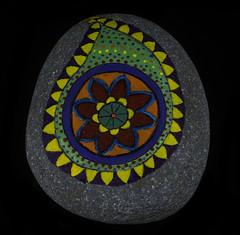 Mandela Rock (Bill Gracey) Tags: mandela maria rock rockpainting homestudio offcameraflash softbox yongnuorf603n yn560iii perspex blackbackground rockart