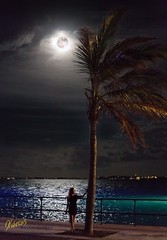 Bermuda Portrait with Supermoon (Kostas Trovas) Tags: night cruise vacations nature water port afterstorm outdoor gorgeous highiso flickr sea palm hdr summer girl portrait ganda minimalist kingswharf woman 500px sky model pier ef50mmf18stm moon bermuda
