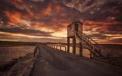 Sunset Watch (Captain Nikon) Tags: holyisland lindisfarne northumberland northeast sunset leadin tidal watchtower nikond7000 sigma1020mmf4 srbgraduated06softgradfilter moody