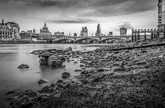 Along Southbank (aurlien.leroch) Tags: europe uk england london londres cityoflondon stpaulscathedral thames thamise blackandwhite nikon d3100 longexposure