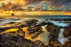 Salemas Beach Sunset (NMiguel2011) Tags: miguelnbregaphotography madeiraisland portosanto seascape sea rocks salemasbeach canon6d canon1635f4isl hitech triopo