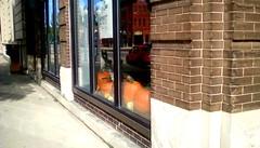 Window Pumpkins - HWW. (Maenette1) Tags: happywindowswednesday windows pumpkins downtown storefront firststreet menominee uppermichigan