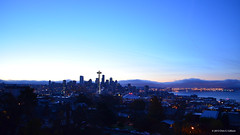 Seattle Skyline at Dawn 2011 [0668] (Chris S. Collison) Tags: seattle skyline dawn kerrypark viewfromkerrypark architecture