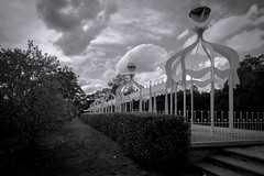 Fairy land (IsadeRoys) Tags: london battersea clouds bw garden