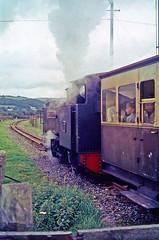 R1142.  Vale of Rheidol Ralway No.7 departing from Capel Bangor.  September, 1963. (Ron Fisher) Tags: capelbangor valeofrheidolrailway vofr no7 1963 1960s 262t 2gauge 600mmgauge 60cmgauge narrowgauge schmalspurbahn voieetroite ceredigion cymru wales midwales rail railway railroad eisenbahn chemindefer transport steam steamlocomotive locomotive locomotivevapeur vehicle tankengine owainglyndwr uksteam
