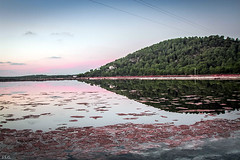amaneciendo y reflejos (ibzsierra) Tags: amanecer reflejo salinas estanque saltpod mountain montaa canon 7d 24105isusm ibiza eivissa reflection sunrise dawn