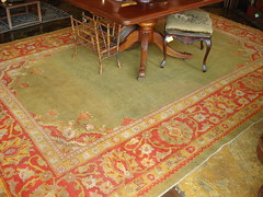 "LATE 19TH CENTURY INDIAN AGRA CARPET. • <a style=""font-size:0.8em;"" href=""http://www.flickr.com/photos/51721355@N02/30287372955/"" target=""_blank"">View on Flickr</a>"