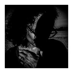 hideandseek pt.2 (seba0815) Tags: ricohgrdiv monochrome people woman shadow sun sunlight contrast hair portrait bw blackwhite blackandwhite schwarzweis black blanco blanc white nero mood inspiredeye preset seba0815 square