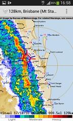 Perfect storm in Brisbane (Tatters ) Tags: weather brisbane radar storm screenshot phone meteorology