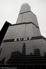 RUMP! (johnlishamer.com) Tags: 2016 lishamer nikond7000 ohc2016 openhousechicago2016 theloop trumptower architecture buildings chicagoil city cityscape cloudy dlsr gray johnlishamercom skyscrapers urban
